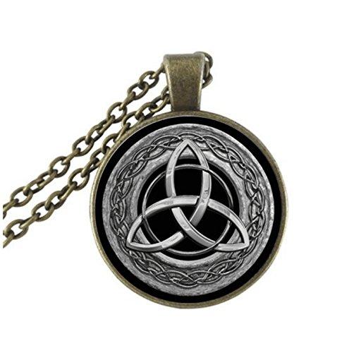 Celtic Cable Chain Necklace (triquetra necklace, Triquetra pendant, Triquetra jewelry, Celtic triangle, Celtic knot, Celtic Necklace, Trinity Symbol, men's necklace (2))