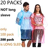 Leberna Rain Ponchos for Adult & Teens | Disposable Poncho for Women & Men | One Size Fit All with Attached Hood…