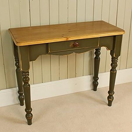 Centros de mesa/escritorio con cajón - de color gris, Shabby Chic ...