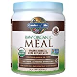Garden of Life Meal Replacement - Organic Raw Plant Based Protein Powder, Chocolate, Vegan, Gluten-Free, 17.9oz (509 g) Powder