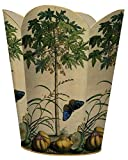 WB345 -Brown Butterfly & Tree Wastepaper Basket