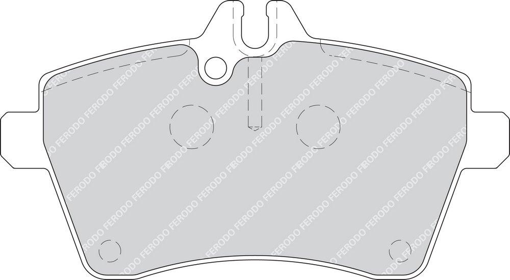 Freno A Disco - confezione 4 pezzi Premier Kit Pastiglie Freno Ferodo FDB1749