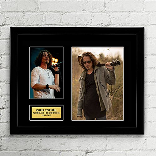 Chris Cornell Audioslave Soundgarden Signed Autographed Photo Mat Custom Framed 11 x 14 Replica Reprint Rp