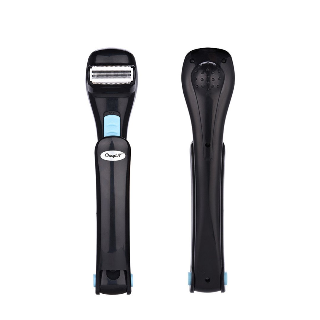 Electric Back Hair Shaver Razor Battery Operated Foldable Handle Back Hair Removal Tool for Men CkeyiN