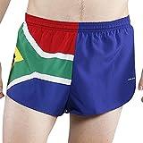 "BOA Mens 1"" Elite Split Printed Running Short (1000CP)(South Africa, Medium)"
