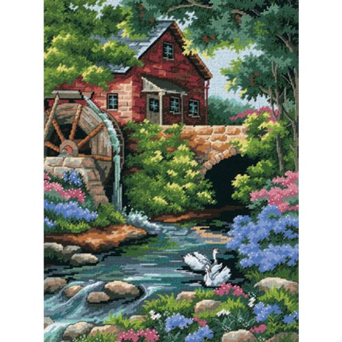 nt Kit - Old Mill Cottage (Cottage Needlepoint)
