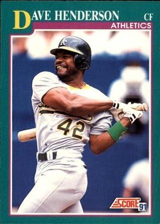 Amazoncom 1991 Score Baseball Card 644 Dave Henderson