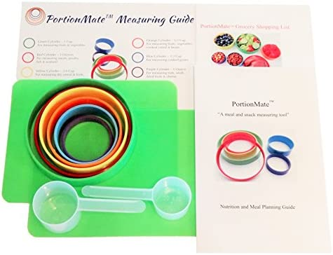PortionMate Deluxe - Meal Portion Control Rings and Nutrition Tool 1