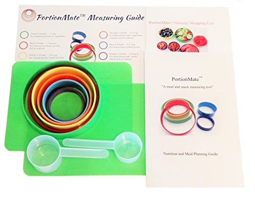 (PortionMate Deluxe - Meal Portion Control Rings and Nutrition Tool)