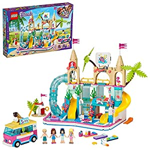 LEGO Friends Playset Divertimento estivo al parco acquatico con le minibambole di Stephanie, Emma e Olivia, serie Summer Holiday, 41429  LEGO