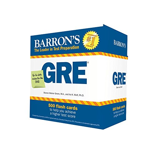 Pdf Test Preparation Barron's GRE Flash Cards: 500 Flash Cards to Help You Achieve a Higher Score