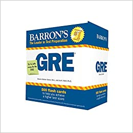 Barron's GRE Flash Cards, 3rd Edition: 500 Flash Cards to