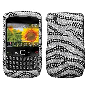 Asmyna BB8520HPCDM010NP Dazzling Luxurious Bling Case for BlackBerry Curve 8520/8530/9300/9330 - 1 Pack - Retail Packaging - Black Zebra