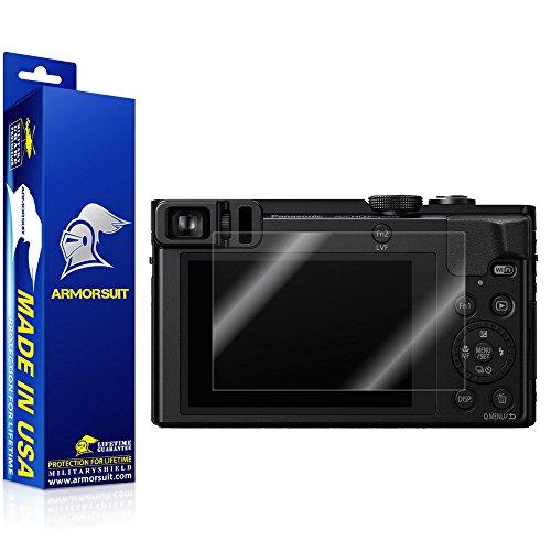 ArmorSuit Panasonic Lumix DMC ZS50 K/S Camera Screen Protector Full Coverage MilitaryShield Screen Protector for Panasonic Lumix DMC ZS50 K/S Camera - HD Clear Anti-Bubble Film
