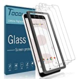Tocol [3 Pack] Screen Protector for Google Pixel 3,[Alignment Frame Easy Installation] [Case