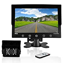 Pyle Waterproof Truck Backup Camera System with 9'' LCD Color Monitor, IR Night Vision Camera, Dual DC Voltage 12-24 for Bus, Truck, Trailer, Van (PLCMTR91)