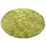 TYC Kids Round Rug Circle Carpet 3 feet Shaggy Area Rugs Living Room Bedroom Rugs Super Soft Children Play Mat Anti Slip Kids room rug for Home Yoga 3.3 X 3.3 ft/100 X 100cm (Green)