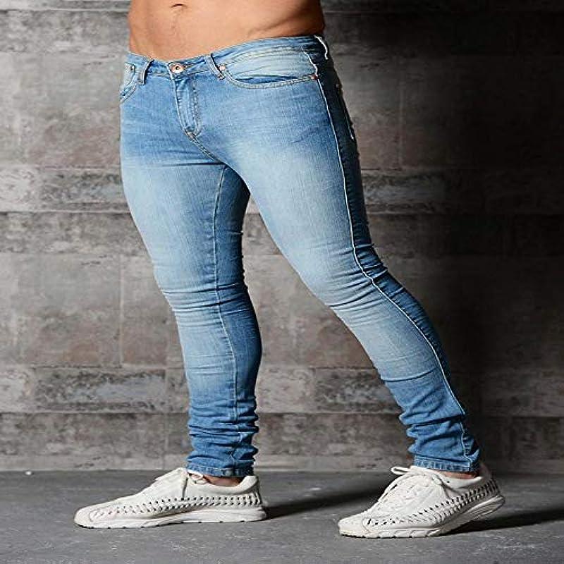 Neue Röhrenjeans Męskie Schwarz Klassische Hip Hop Stretch Jeans Slim Fit Mode Berühmte Marke Biker Style Enge Zerrissene Jeans Męskiehose XXXL Skyblu: Sport & Freizeit