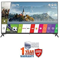 LG 65 Super UHD 4K HDR Smart LED TV 2017 Model (65UJ7700) with Additional 1 Year Extended Warranty
