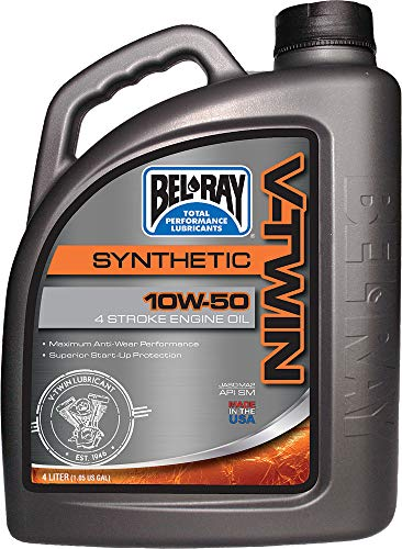 V-twin Oil Motor Ray Bel - Bel-Ray V-Twin Synthetic 10W50 Engine Oil 4 Liter 96915-BT4