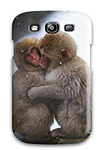 Protection Case For Galaxy S3 Case Cover For Galaxy Mokey's Keeping Warm