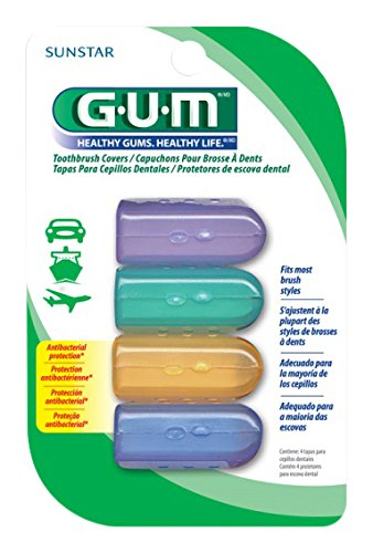Gum toothbrush covers, 4 count
