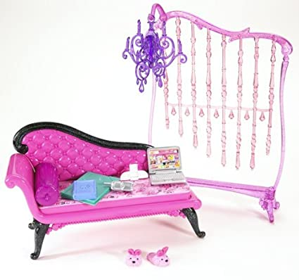 Amazon Com Barbie My House Basic Furniture Barbie Glam Daybed
