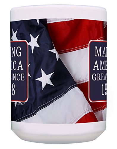 60th Birthday Gifts for All Making America Great Since 1958 Turning 60 Birthday Gift Ideas MAGA Coffee Mug Birthday Mug MAGA Gifts 15-oz Coffee Mug Tea Cup 15 oz American Flag by ThisWear (Image #3)