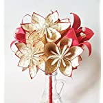 A-dozenI-Love-Yous-12-paper-flowers-and-lilies-one-of-a-kind-gifts-for-her-1st-anniversary-bouquet-made-to-order-paper-bouquet