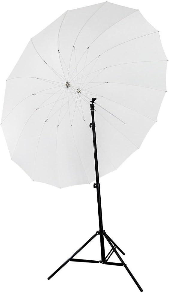 Neewer 72 185cm White Diffusion Parabolic Umbrella 16 Fiberglass Rib 7mm Shaft Includes Portable Carrying Bag Camera Photo