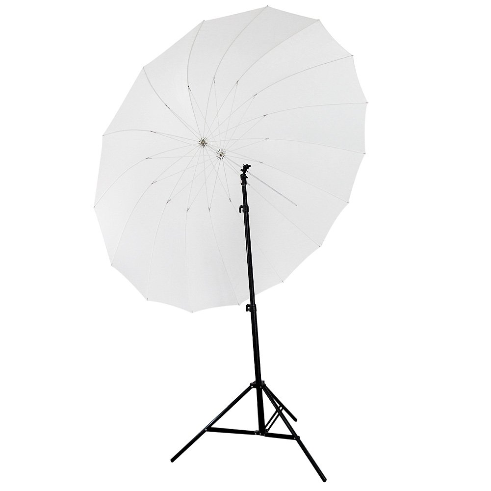 Neewer 72''/185cm White Diffusion Parabolic Umbrella 16 Fiberglass Rib 7mm Shaft, includes Portable Carrying Bag
