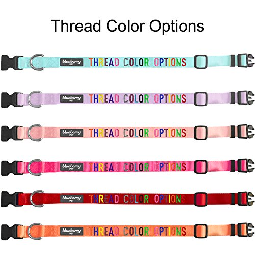 Blueberry Pet 32 Colors Personalized Dog Collar, Baby Pink, Small, Adjustable Customized ID Collars for Small Dogs Embroidered with Pet Name & Phone Number by Blueberry Pet (Image #4)