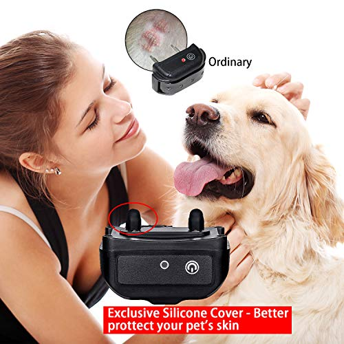 CANAVIS Dog Shock Collar with 1800Ft Remote, Waterproof Dog Training Collar, Rechargeable Electronic Collar with Vibration Tone Shock Modes, Adjustable Collar Strap for Small Medium Large Dog by CANAVIS (Image #2)