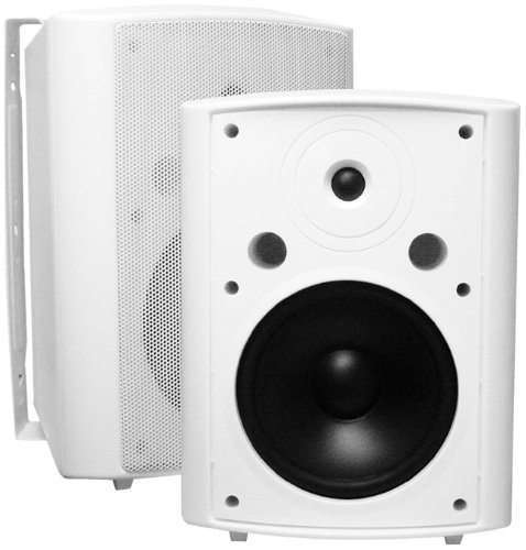 AP840 8-Inch 200W 2-Way Indoor/Outdoor Weather-Resistant Patio Speakers – OSD Audio – (Pair, White)
