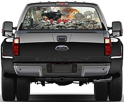 Truck Back Window Decals >> Amazon Com Darth Vader Star Wars Art Rear Window Decal