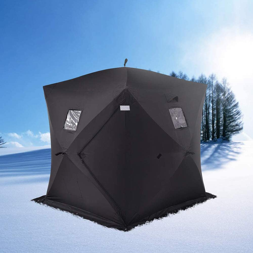 LOY 2 Person Ice Fishing Tent Portable Rainproof Oxford