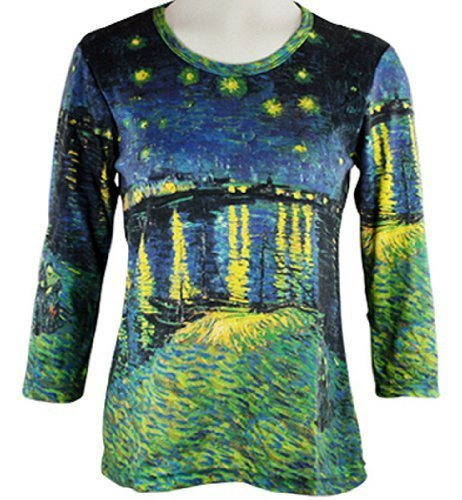 Breeke & Company - Starry Night Over the Rhone Cotton Micro Blend Top (Style Blend Rhone)