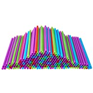 Drinking Straws 500 Count BPA-Free Multi-Colored Disposable Straw Assorted - DuraHome