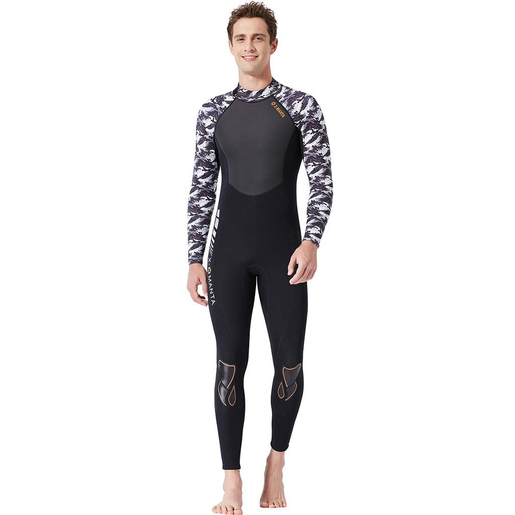 Yliquor Men's Keep Warm Sunscreen Swimming,Surfing and Snorkeling Diving Coverall SuitQuick Dry Breathable Elastic Training Comfy Classic Fashion