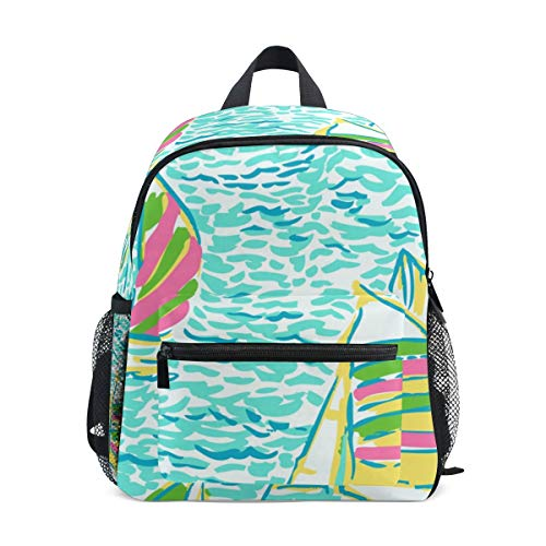 Kids Backpack Personality Lilly Pulitzer School Backpacks Cool Bag Campus Daypack Gift