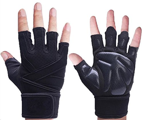 Qiu Ping Fitness Equipment Training Sports Extended Bracers Half Finger (Mountain Challenge Mens Glove)