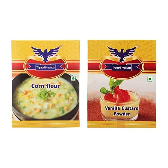 Tripathi Products Combo Pack of Corn Flour and Custard Powder 100 Grams Each