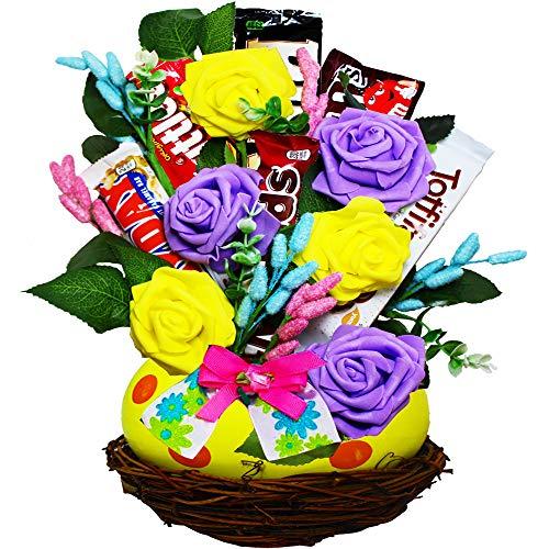 (Spring Favorites Easter Egg Candy Bouquet)