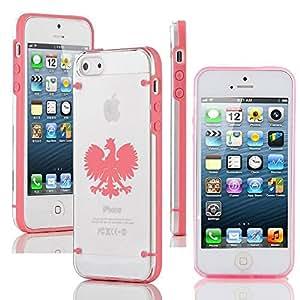 Apple iPhone 6 Plus / 6s Plus Ultra Thin Transparent Clear Hard TPU Case Cover Poland Polish Eagle (Pink)