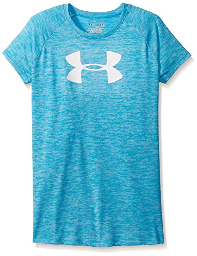 Under Armour Girls' Novelty Big Logo T-Shirt, Meridian Blue (987)/White, Youth Small