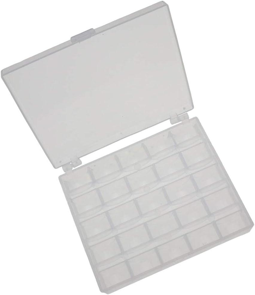 Rekkles 25 Slots leeren Spulen Spulen Box N/ähmaschine Spulen-Kasten N/ähen Handwerk Kunststoff-Geh/äuse Aufbewahrungsbox