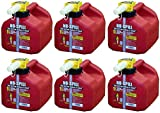 No-Spill 1415 1-1/4-Gallon Poly Gas Can (CARB Compliant) , 6 Pack