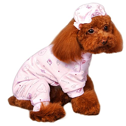 Alfie Pet by Petoga Couture - Akira Pajamas with Hat - Color: Pink, Size: (Misses Halloween Pajamas)