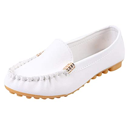 Women Comfort Moccasin Nurse Work Mom Peas Shoes Loafers Soft Leather Flats Pump