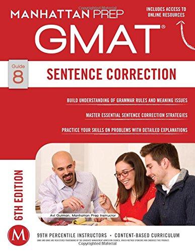 GMAT Sentence Correction (Manhattan Prep GMAT Strategy Guides) -